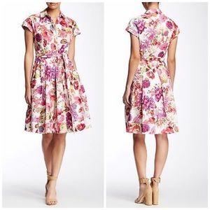 ELIZA J Short Sleeve Floral Print Dress Size 2